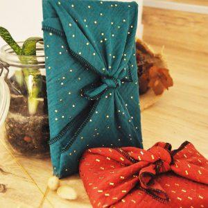 Emballage cadeau réutilisable zéro déchet
