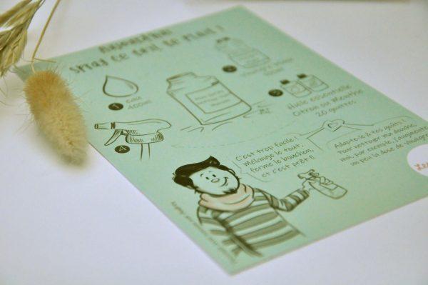 Carte postale pour faire son ménage zéro déchet