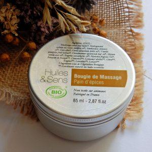 bougie de massage Pain d'épices