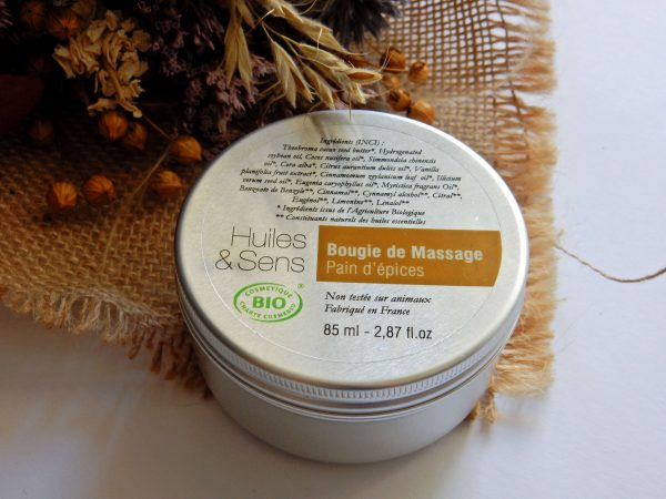 bougie de massage Pain d'épices