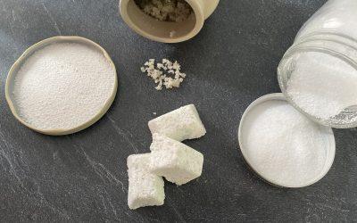 5 min pour 2 recettes de Pastille lave-vaisselle