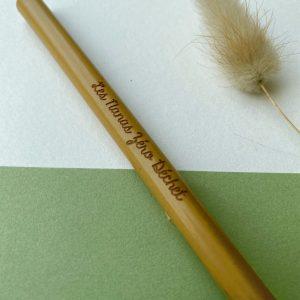 Paille bambou reutilisable