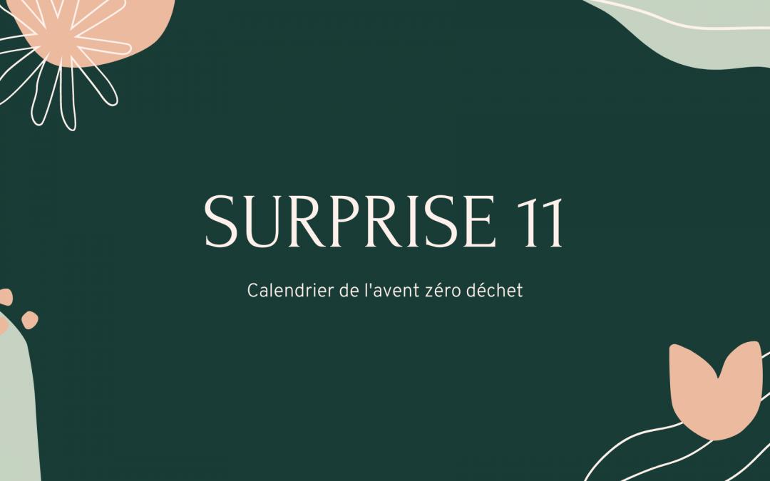 surprise calendrier de l'avent zéro déchet